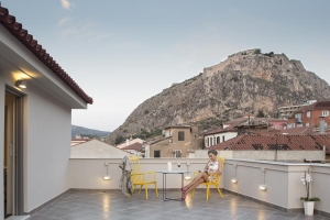 Gallery, Athena hotel: Nafplion hotels rooms old city square